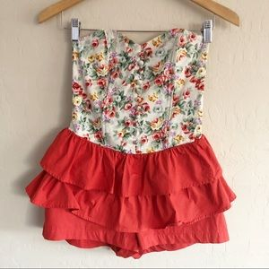{Poetry} Floral Ruffled Romper {M}
